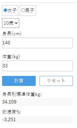肥満 度 計算 小児